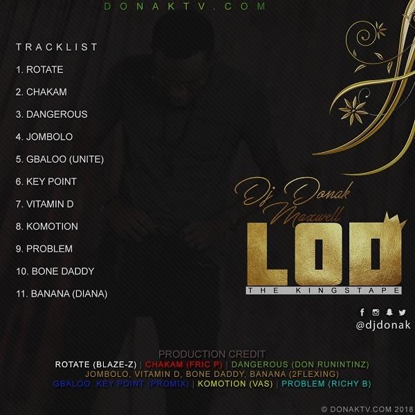 DJ Donak LOD Tracklist