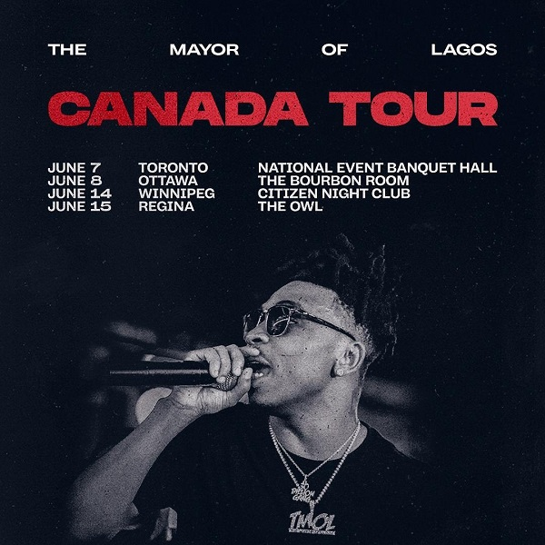 Mayorkun The Mayor Of Lagos Canada Tour