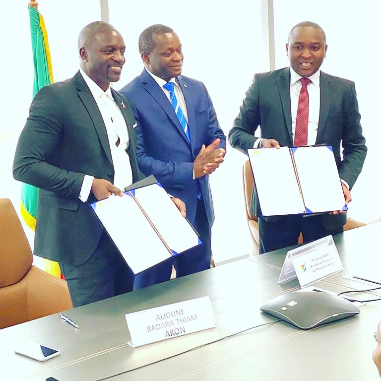 "Akon officially own a city in Senegal called ""Akon City"""